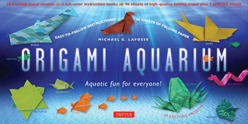 Origami Aquarium Kit: Aquatic Fun for Everyone!: Kit with Two 32-Page Origami Books, 20 Projects & 98 High-Quality Origami Papers: Great for Kids & Adults!