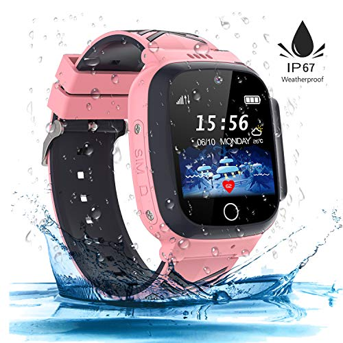 Kinder SmartWatch Phone Digital Camera Watch with Games Music Player Alarm Clock and 1.44 inch Touch LCD for Jungen und Mädchen Birthday (hell rosa)