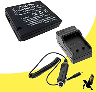 Halcyon 1800 mAH Lithium Ion Replacement Battery and Charger Kit for Panasonic Lumix DMC-LX5 10.1 MP Digital Camera and Panasonic DMW-BCJ13