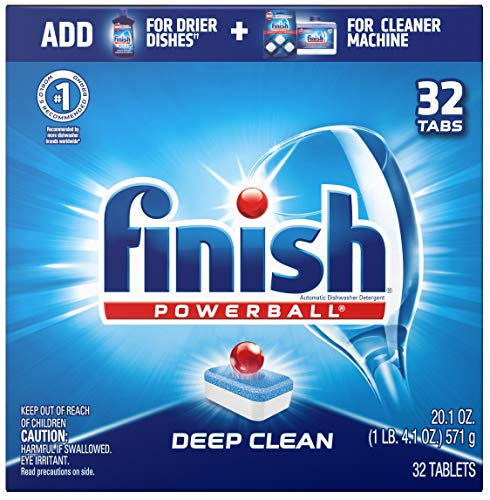 Price comparison product image Finish Powerball Tabs Dishwasher Detergent Tablets,  Fresh Scent,  32 ct