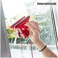 InnovaGoods Limpiacristales Magnético, Rojo, 5 x 15 x 11 cm