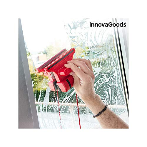 InnovaGoods Magnetischer Fensterwischer 5 x 15 x 11 cm rot