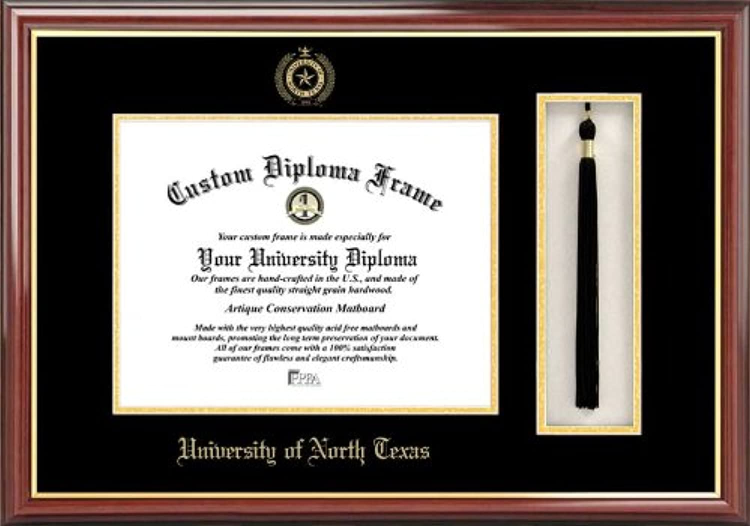 Campus Images TX952PMHGT University of North Texas Tassel Box and Diploma Frame, 11  x 14