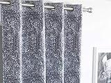 Antilo - Cortina ollaos LANCIS 140x260cm - Color Gris
