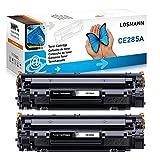 LOSMANN 2x Toner negro Compatible para HP 85A CE285A para HP LaserJet Pro P1005 P1006 P1102W P1102 M1132MFP M1217NFW M1212NF M1213NF M1132 P1100 M1136 M1210 M1212 M1130 M1134