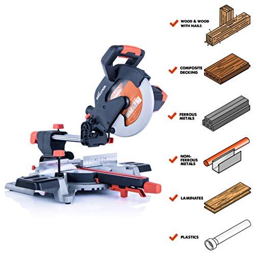 Evolution Power Tools R255SMSL 10' Multi-Material Compound Sliding Miter Saw