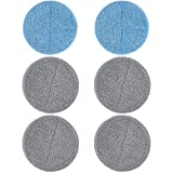 3 Sets Mop Pads Replacement for iDOO Cordless Electric Mop, Washable and Reusable Microfiber Mop...