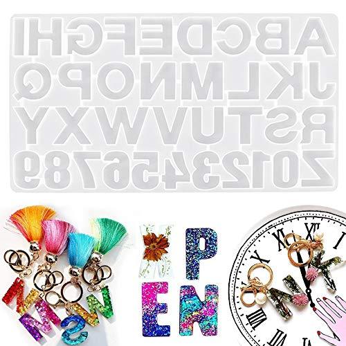 YingBiao Numeri Lettere Alfabeto Stampo in Silicone Stampo in Resina Pendente per Gioielli Creazione di stampi per Matrimonio Natale Regalo di Natale Artigianato Fatto a Mano