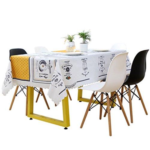 Nappes de salon table basse nappe de jardin frais Nappe de lin de coton nordique nappe (Size : 105 * 105cm)