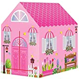 Liberty Imports Kids Themed Play Tent with 50 Balls Included - Indoor Outdoor Children Playhouse Toy for Toddlers, Boys and Girls (Princess House)