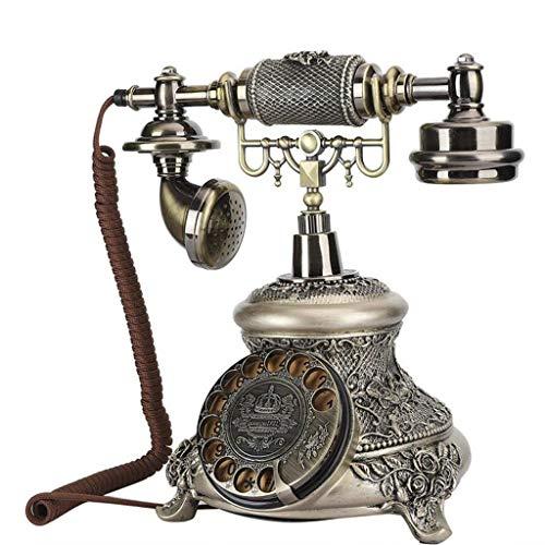 gujiu Royal Telefon Retro Weinlese-Klassisches Telefon Wählscheibe FestNetzTelefon Altmodisches Schnurgebundenes Telefon Für Oficina Decoración para el hogar Wundervolles Geschenk Kunsthandwerk