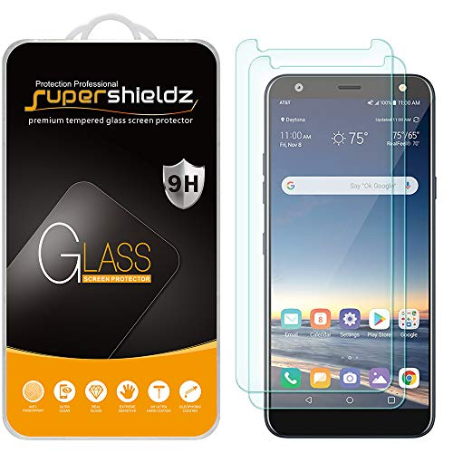 (2 Pack) Supershieldz for LG (Xpression Plus 2) Tempered Glass Screen Protector, Anti Scratch, Bubble Free