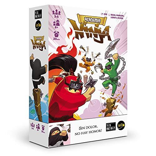 TCG Factory Academia Ninja Juego de Mesa en español, para familias, niños y reuniones con Amigos. Divertido Juego de Habilidad, destreza y faroleo... ¡con Ninjas!