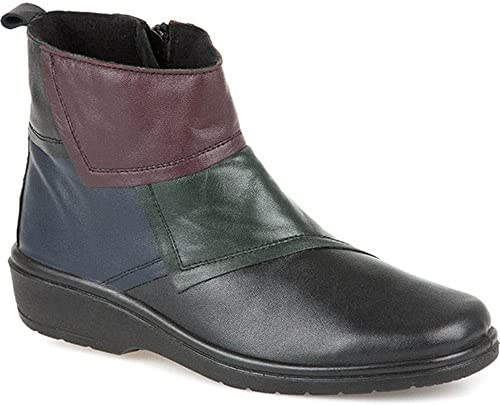 Pavers Womens Leather Ankle Boots Low