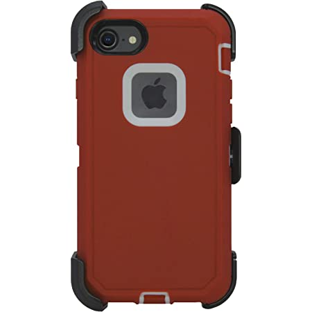 NOT Plus with Screen Protector /& Carrying Belt Clip /& Kickstand //// Drop-Shock-Proof Camouflage//Orange Hand-e Muscle Series Holster Case for Apple iPhone 7//8 Defender //// Triple Layer Protection