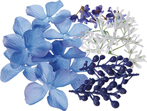 ポピー(Popy) 造花 ハーバリウムキット ブルー 全長2.2~3.2cm・花径3.2実径0.7~0.9m FBC-8170BLU