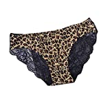 Fiere Womens Lace 3 Pack Leopard Sexy Low Rise Panties for Sex Flirt AS13 M