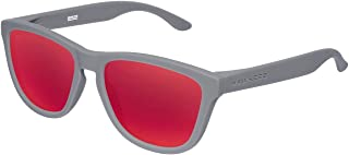 Hawkers Rubber Grey Red One,Gafas de Sol Unisex, Gris/Rojo