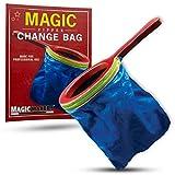 Magic Makers Magic Zipper Change Bag Magic Trick - Blue Bag