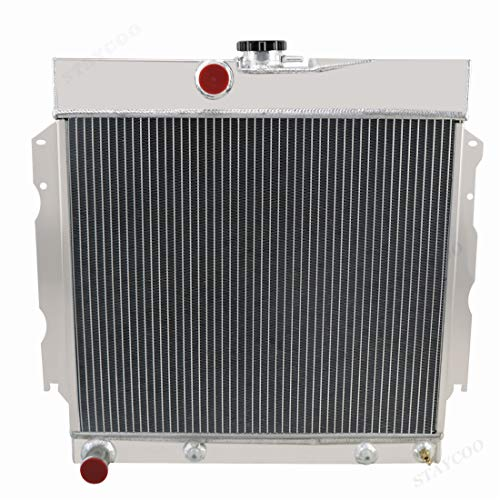 STAYCOO 3 Row All Aluminum Radiator for 1963-69 Dodge Plymouth Fury Charger/Dart/Coronet/Savoy V8, 26'' Overall Width