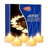 AGPTEK Lot de 24 Bougie LED à Piles (Blanc Chaud Vacillant) avec Flamme Vacillante...