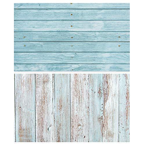 Asudaro, sfondo fotografico per fondo, 57 x 87 cm, 2 in 1, bianco, venature del legno e cemento, superficie piatta, per foto e sfondi per Gourmet Blogger stile 1 Taglia unica