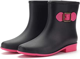 MIARHB Fashion Rainboot, Womens Short Ankle Rubber Rain Boots Garden Shoe