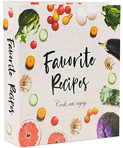 3 Ring Full Page Recipe Binder 8.5x11 in. Kit with 50 Page Protectors, 16 Divider Sheets & 32 Labels Best to Store Your Printed Recipes & Create Your Own Favorite Recipes Book. Great DIY Cookbook Set