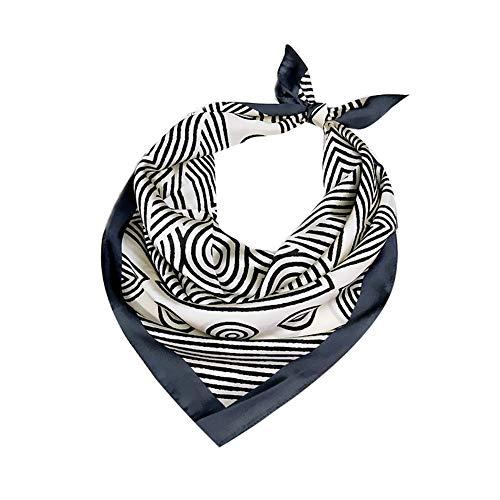 Kentop Damen-Schal, modisch, bunt, bedruckt, klein, quadratisch, für Party und Alltag