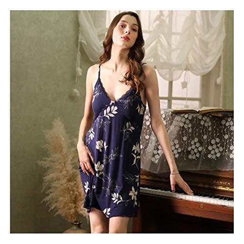 Gedrukt Lace Lace Nachtjapon Sexy Jarretels Vrouw Pyjama Met De Borst Pad Home Service Suit