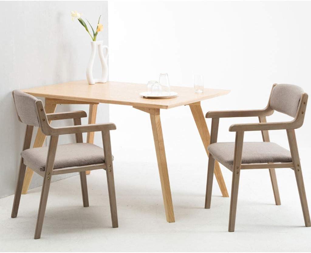 Chaise de salle à manger SLL Simple en Bois Massif avec accoudoir de Restaurant, Chaise de Loisirs, Chaise d'ordinateur pour Adultes Moderne (Color : C) E