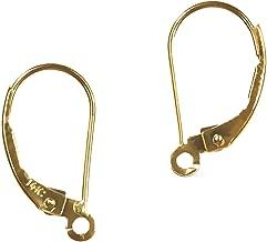 14K Gold Earwires Leverbacks Open Ring