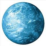 lumentics Leuchtender Wandsticker BLAUER PLANET - Im Dunkeln nachleuchtender Wandsticker. Nachleuchtendes Planeten-Wandbild. Glow in the Dark Aufkleber. (40cm)
