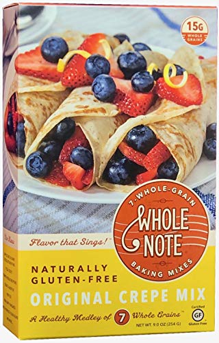 Whole Note Crepe Mix, 7-Whole-Grain and Naturally Gluten-Free (Single Package)