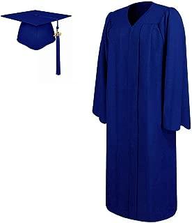 Lescapsgown Matte Graduation Gown and Cap Tassel 2019,All Sizes for Adult