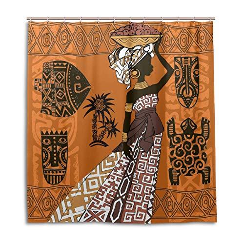 72x72/'/' Mardi Gras African American Woman Bathroom Waterproof Shower Curtain