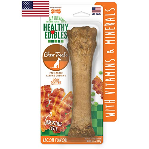 Nylabone Healthy Edibles All-Natural Long Lasting Bacon Chew...