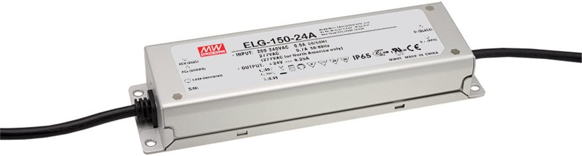 PowerNex Mean Well OFFicial quality assurance mail order ELG-150-24DA 24V 6.25A Single Output S 150W