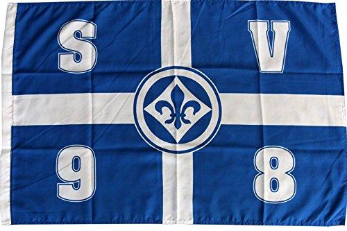 Flaggenfritze Flagge SV Darmstadt 98 Kreuz - 60 x 90 cm + gratis Aufkleber