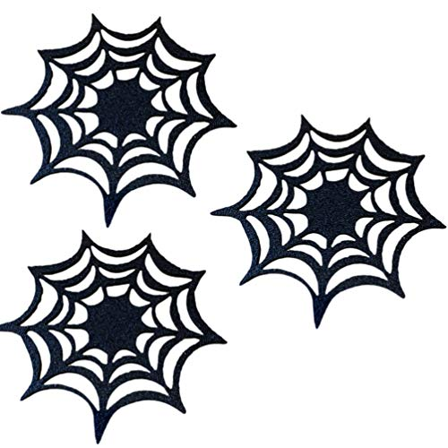 BESPORTBLE Halloween Spider Web Placemats10pcs Spider Web Table Runner Halloween Spider Web Coasters Placemat Table Placemats Doilies Halloween Decor