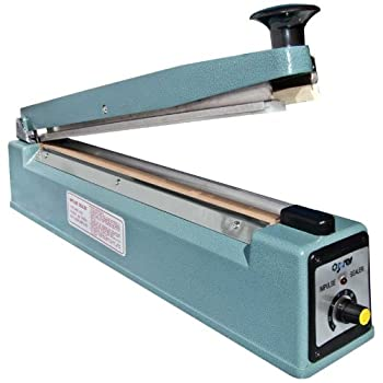 JORESTECH 16 /400mm Manual Impulse Bag Sealer with Cutter Heavy Duty Housing and Copper Transformer with Repair Kit 110 Volt  MMS-400C