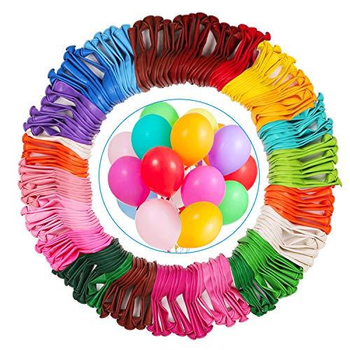 Miamasvin 220 Piezas - 22 Colores Multicolores Globos, Coloridos Globos de Látex para Bodas, Fiestas de Cumpleaños y Decoración