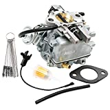 KIPA Carburetor for YFA type carter Carb 1 barrel with electric choke Fits Ford 4.9L 300 cu I6, With Carbon Dirt Jet Cleaner Tool Kit & Mounting Gasket