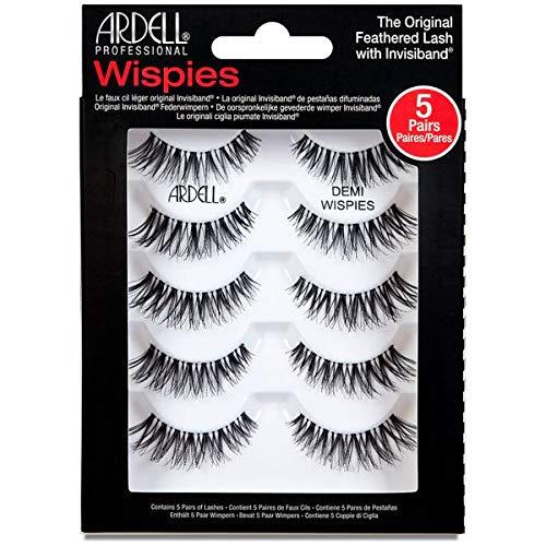 ARDELL Professional 5 Pack Demi Wispies, 25 g, das Original - Wimpern aus Echthaar, schwarz, black (ohne Wimpernkleber) ultraleicht, flexibel und wiederverwendbar