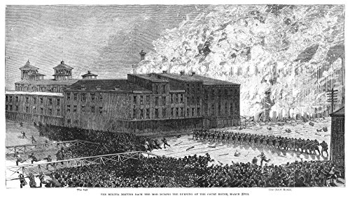 Cincinnati Riot 1884 NThe Militia Driving Back The Mob During The Burning Of The Court House March 29 1884 In Cincinnati Ohio Where An Angry Mob Started A Riot After A Jury Verdict Of Manslaughter In -  Granger Collection, GRC0265319