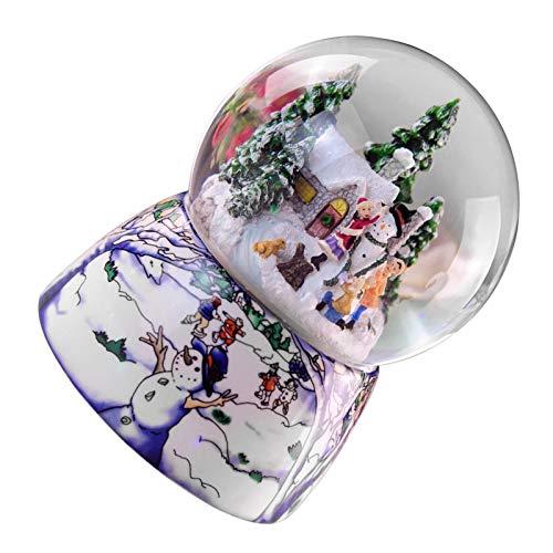 likeitwell Der Weihnachtsworkshop Musical Snow Globe | Schneemann Festliche Dekoration | Aufziehen & Spielen | 10,6 cm X 10,6 cm X 15 cm