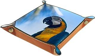 Vockgeng Perroquet Bleu Boîte de Rangement Panier Organisateur de Bureau Plateau décoratif approprié pour Bureau à Domicil...