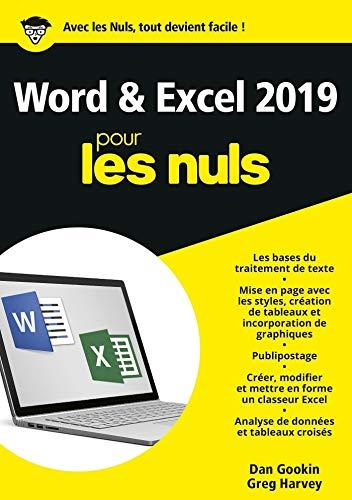 Word et Excel 2019 pour les Nuls (French Edition)