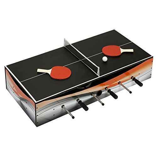 Hathaway Revolver 40-in 4-1 Tabletop Multi-Game with Foosball, Table Tennis, Glide Hockey, and Finger Football