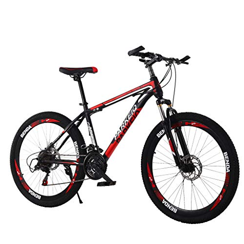 Dayyet Outroad Mountain Bike, 26 Inch Mountain Bike with 21 Speed Dual Disc Brakes (Black)